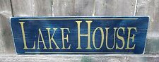 HAND PAINTED RUSTIC  LAKE HOUSE WOOD SIGN  Custom Colors