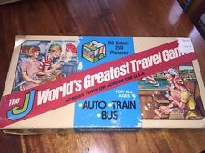 Vintage World's Greatest Travel Game by J & J (1980) O111315 Auto Train Bus