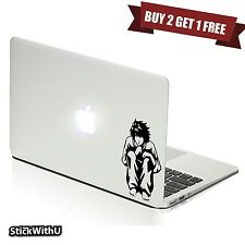 Macbook Air Pro Vinyl Skin Sticker Decal Death Note Anime L Sit Silhouette m987