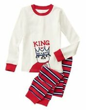 NWT Gymboree Gymmies Boy's King Of Hearts Dog Pjs Pajamas Size 2T