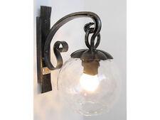 Lampada lanterna applique in ferro battuto e vetro DALIA Ø cm. 16