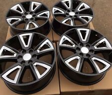 SET FOUR 22 CHROME BLACK WHEELS RIMS for CHEVY TAHOE SUBURBAN SILVERADO 1500 NEW