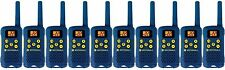 Lot of 10 BLUE Motorola TalkAbout MG160A FRS GMRS 2-WAY Radios Walkie Talkie AAA