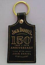 Jack Daniels new 150th Anniversary leather keyring for home bar pub or collector