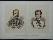 Illustrated London News Double-Page S6#25 T.R.H. Duke and Duchess of Connaught