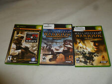 XBOX GAME LOT FULL SPECTRUM WARRIOR TEN AMERICAS AA ARMY RISE OF A SOLDIER THQ
