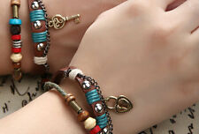 Couple Bracelet Leather Lock Key Boyfriend Girlfriend Gift Free Shipping CP-3666