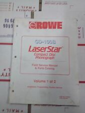 rowe cd-100b laserstar compact disk phonograph manual #1