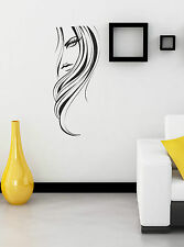 Fashion Woman Girl Face vinyl decal sticker wall art home salon decoration W2