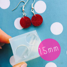 SILICONE EARRING MOLD - Circle Round Hole Resin Jewellery Stud Earrings