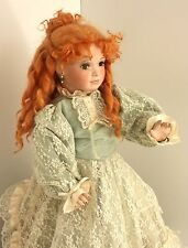 24 Inch All Porcelain Realistic Doll Lace and Pale Blue Dress Janis Berard