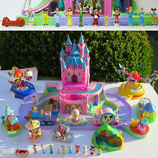 Polly Pocket Magic KINGDOM 100% complete Peter Pan Tinkerbelle DISNEYLAND DUMBO,