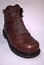 CARHARTT MEN'S Brown Breathable Work Boots Safety-Toe Sz 7