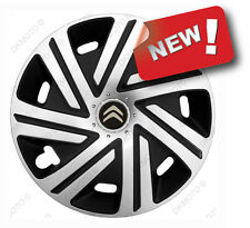 "4x16"" Wheel trims covers fit Citroen Dispatch 16"" silver / black new logo"