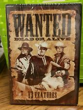 NIP Wanted Dead Or Alive DVD 2 DISC SET 13 WESTERN FEATURES BONANZA THE OUTLAW