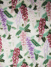 Beautiful Wisteria: Asian Japanese Fabric w/ Gold Metallic - 1 Yard