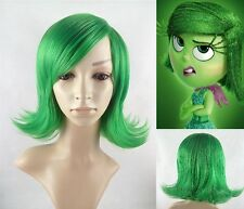 New movie Inside Out Disgust Short green ainme Party cosplay Wig/Wigs + wig net