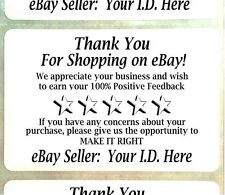 "250 Customized YOUR ID Thank You For Your eBay Purchase FB Label Sticker 2"" x 3"""