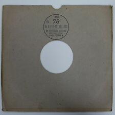 "78rpm 10"" card gramophone record sleeve / cover 78 RECORD EXCHANGE , MANCHESTER"