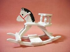 Dollhouse Miniature Toy Wood Rocking Horse Nursery Baby's Room