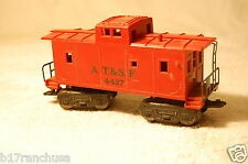 """Marx Trains"" Model #4427 AT&SF O Gauge Red Cupola Caboose Vintage 1977"