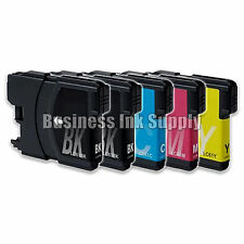 5 PK New LC61 Ink Cartridge for Brother MFC-495CW MFC-J410W MFC-295CN LC61 LC-61