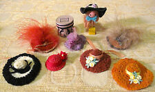 Vintage Dollhouse Lot of Women's Hats VICTORIAN some VANITY FAIR New HANDMADE