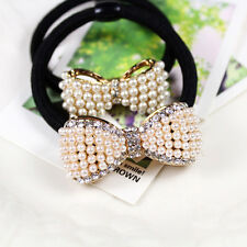 Stylish Women's headband Lovely Pearl diamond Bow hair ring Flowers Tousheng 1PC