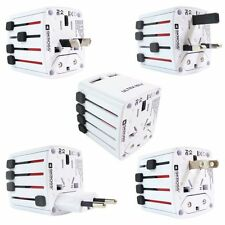 New 6 USB Multi Ports Adapter Travel Wall AC Charger with UK/EU/US/AU Plug White
