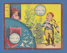 CLARKS COTTON OF THE U.S.A. - VERY RARE ADVERTISING / CALENDAR CARD -  1883