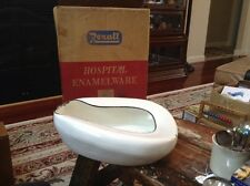 Vintage Rexall Hospital Enamelware Bed Pan With Original Box