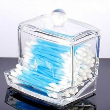 Clear Acrylic Cotton Swab Q-tip Storage Cosmetic Makeup Holder Box Case ASAP