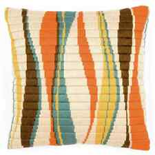 Wavey Lines - Long Stitch Printed Canvas Cushion Kit-Cross Stitch-Tapestry