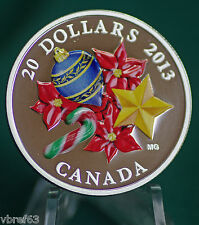 2013 Canada $20 Candycane Murano glass 99.99% silver