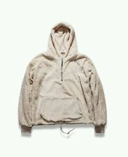 KANYE WEST STYLE SHERPA FLEECE HALF ZIP HOODIE STREETWEAR HIP HOP FEAR OF GOD