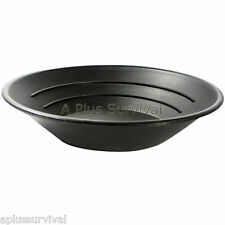 "10"" Black Gold Pan with 3 Ridges - Emergency Survival Kits Panning Equipment"