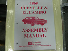 1969 CHEVELLE, EL CAMINO (ALL MODELS) ASSEMBLY MANUAL