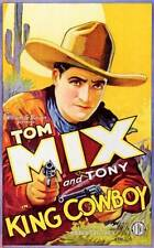 New Classic Movie Art Poster of 1928 King Cowboy with Tom Mix Home Decor 177250