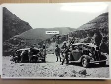 "12 By 18"" Black & White PICTURE 1935 Ford 1936 Ford truck Foreign Military photo"