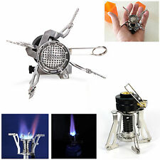 Outdoor Picnic Butane Gas Burner Portable Camping Mini Steel Stove Case Hot HY