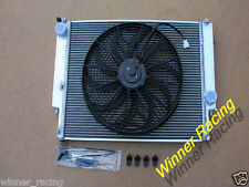 Dual core 40mm aluminum alloy radiator&16'' 12V 160W Fan BMW E36 M3/Z3/325TD
