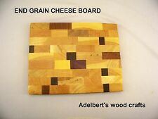 "10"" x 8"" Cheese and Sandwich End Grain Cutting Board. Shipped by priority mail"