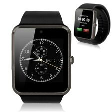 GT08 Bluetooth Smart Watch Wrist Phone Mate TF&SIM For Andriod iPhone Black