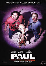 PAUL - NICK FROST & SIMON PEGG & SETH ROGEN AUTOGRAPH SIGNED PP PHOTO POSTER