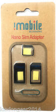 Genuine Imobile 4 in 1 Nano to Micro & Standard Sim Card Converter adapter Black
