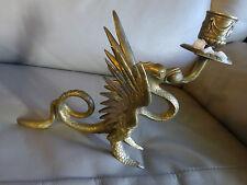 Ancien bougeoir en bronze  dragon qui crache du feu     à nettoyer à 20 €