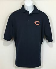 Chicago Bears Polo Golf Shirt Large NFL Blue Football Antigua