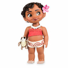 "Disney Store Authentic Princess Moana Baby Toddler BIG 15"" Toy Doll w/ Turtle"