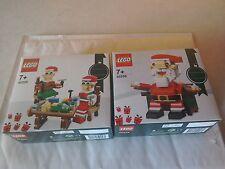 LEGO SANTA & SANTA ELF HELPERS 40205 & 40206 - NEW/BOXED/SEALED
