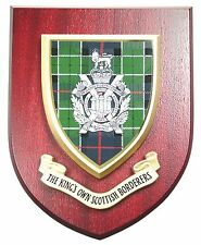 KOSB KINGS OWN SCOTTISH BORDERERS CLASSIC HAND MADE REGIMENTAL MESS PLAQUE